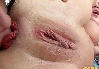 PervCity 亚洲 和 金发女郎 肛门 三人行 - 10 min hd