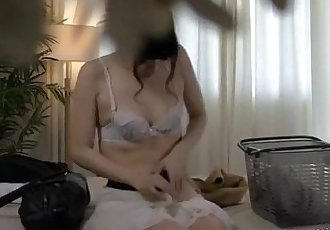 Asian Girl Massaged Fingered And Fucked With Toy By The Masseur On The Bed - 8 min