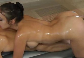 Lucky guy gets to fucks a busty Asian MILF under the shower - 7 min