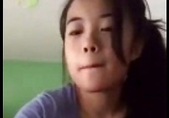 selfie203-1 young asian girl show fingering - 2 min