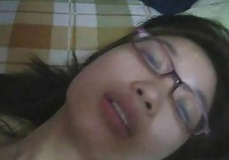 hot teen asian with eyeglasses - at jizzercams.goldros.com - 7 min