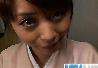 Teen Marika gives an asian pov blowjob and swallows cum - 8 min