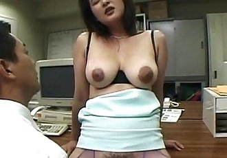 Horny Asian office hoe finger fucked in her slit in lunch break - 5 min