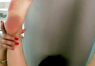 Asian foot goddess masturbating and shoing off her feet - 8 min