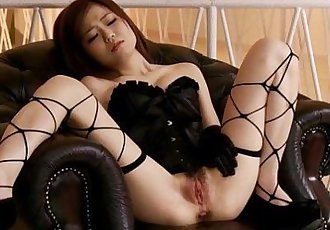 Nao is a luscious idol that enjoys her kinky stockings and having her trimmed pu - 5 min