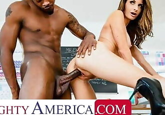 Naughty America - Silvia Saige Sticks up for her Husband but must take a Big Black Cock