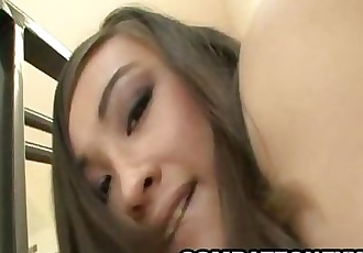 Asian babe Ariel Rose gets fucked on the stairs