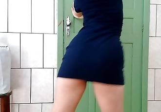 Ruiva safada dançando na webcam pro patrão