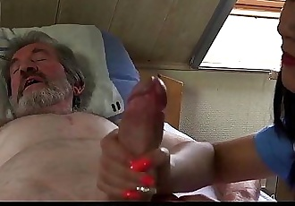 Teen nurse Lady Dee fuck treatment for sick old patientHD