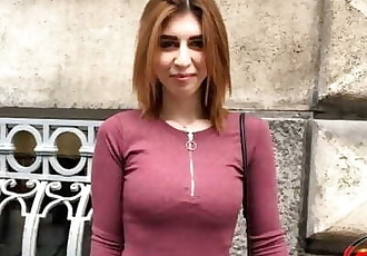 GERMAN SCOUT - CUTE GINGER TEEN TALK TO FUCK AT STREET CASTING FOR CASH