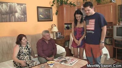 Innocent girl is seduced by her boyfriend\