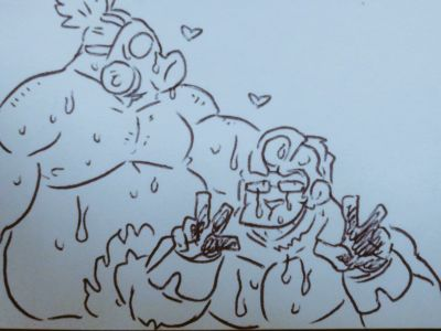 Winston and Roadhog
