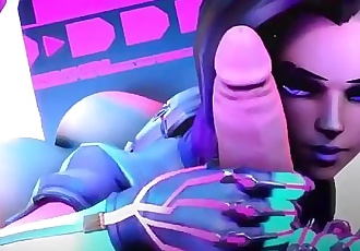 THE GORGEUS SOMBRA FROM OVERWATCH 60/FPS/SLOW MOTION