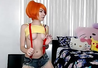 Cute Misty Cosplayer Desperate For Attention... 35 min