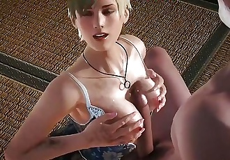 Old and young, titjob, RESIDENT EVIL SHERRY BIRKIN, best porn videogame
