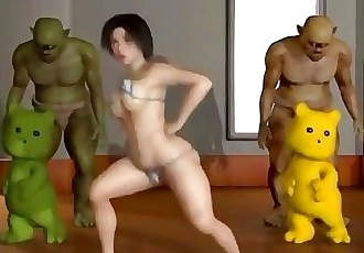 3D Chick Fucked Hard By Orcs