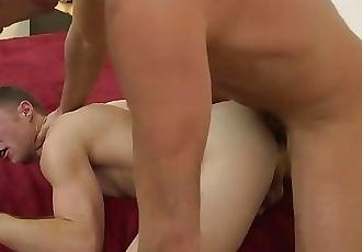 GrowlBoys - daddy breeds jock bareback and fills him with monster satyr cum
