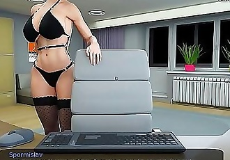 Hot milf teacher with big tits and a gorgeous ass is riding a dildo on cam for her student l My sexiest gameplay..