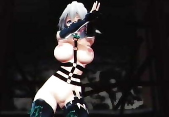 MMD SEX Touhou Sakuya Dances In Bondage Suit