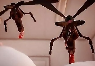 3D Lilia Insect Fuck Toilet Part 1 / 2 2 min