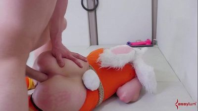 Submissive blonde bunny girls gets her asshole punished - 6 min HD+
