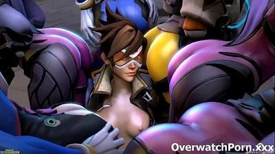 Overwatch XXX Group Sex - 5 min