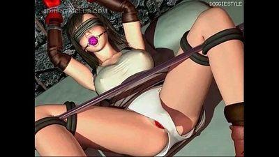 Roped anime sex slave in huge tits cunt banged hard - 5 min