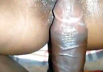 Indian Housewife trying to anal fuck with hairy pussy fuck