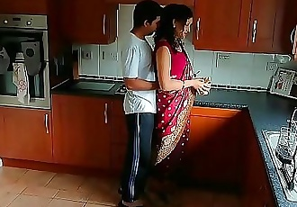 Red saree Bhabhi caught watching porn seduced and fucked by Devar dirty hindi audio desi chudai leaked scandal sextape..