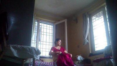 Desi granny after bath - 3 min