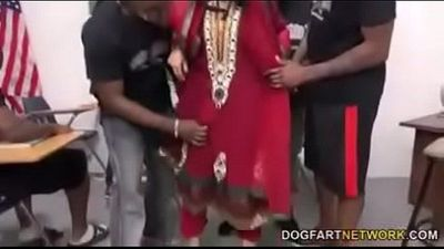 Indian desi pussy ripped by Black guys - 5 min