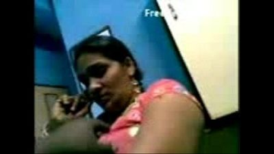 Horny telugu lady dancing and boobs fondled - 5 min
