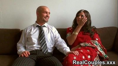Desi Indian is pounded hard by husband - 15 min