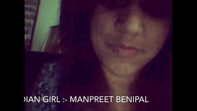 Desi Punjabi Girl Manpreet Showing Herself on Cam - 12 min