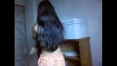 Indian cute teen girl shy to undress before BF - 12 min