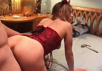 Hot Helloween Sex with Devil-girl - Hard Prone Bone and Doggy Style