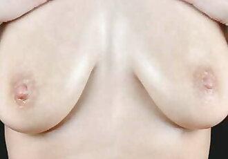 NyanSally - I Love Oiling my Big Saggy Boobs so much