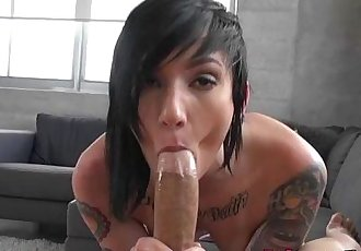 Teen With Tats Nikki Hearts Devours Cock Of BF