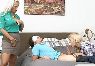 Holly Heart and Aubrey Gold hot threeway
