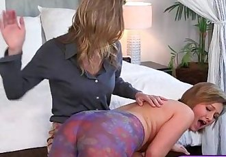 Bailey Bae and Alina Long nasty lesbosex in the bedroom
