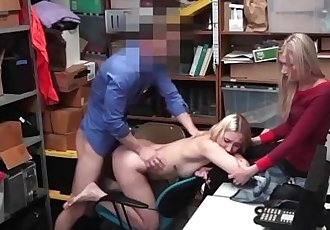 Teen Sierra Nicole gets a hot sex in front of mom