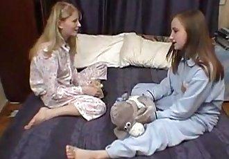 Cute Teen Lesbians in Bed 2