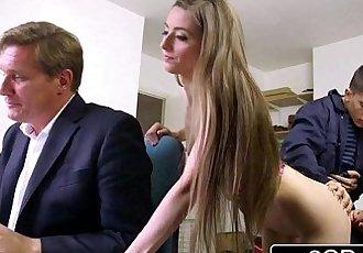 Sneaky Skinny Bastard Fucks Bosss Wife and DaughterTarra White, Leyla MorganHD