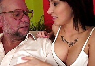Sandra Luberc takes a veteran cockHD