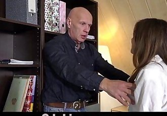 Horny Teen school girl deepthroat blowjob 69 sex for old teacherHD