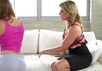Lesbian Cougar Gropes Sons Young Girlfriend
