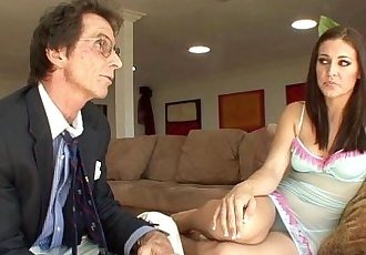 Old stepdad wants a taste of some young pussyHD