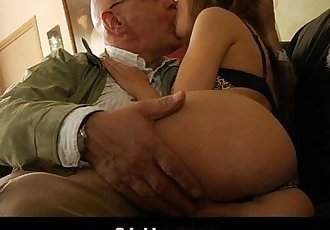Oldman satisfy his young horny wifeHD