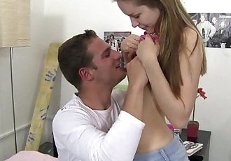 Small titted teen gets nailedHD