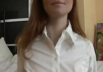 Redhead Gaping Anal for Russian Teen